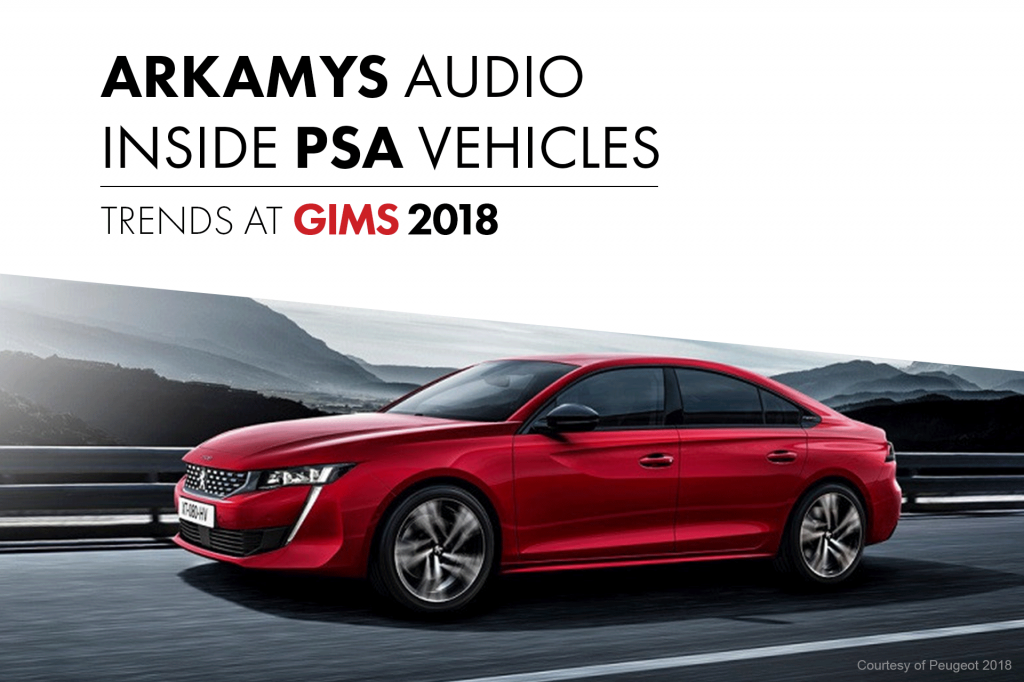 ARKAMYS audio software technology PSA Group new vehicle releases